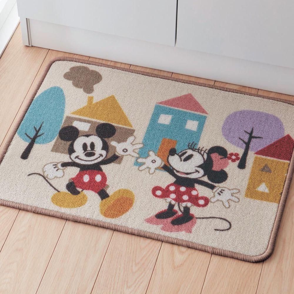 日本千趣會 - 迪士尼 方型腳踏墊(洗面台前)-米奇好友派對