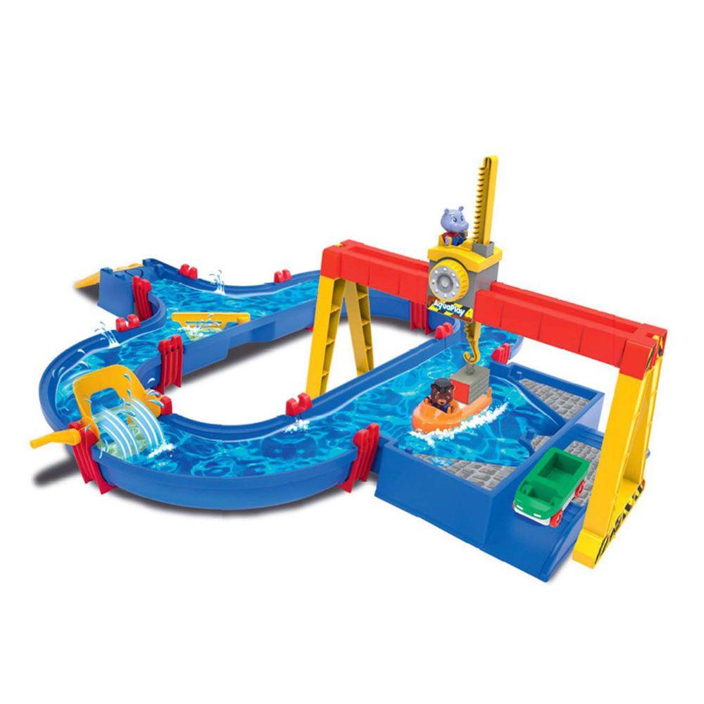 瑞典 Aquaplay - 【工程控最愛】貨櫃港口漂漂河水上樂園玩具-1532