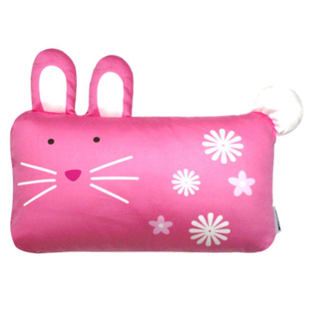 美國 Milo & Gabby - 動物好朋友-可水洗防蹣枕心+枕套組-LOLA兔兔 (mini枕-1歲以上)