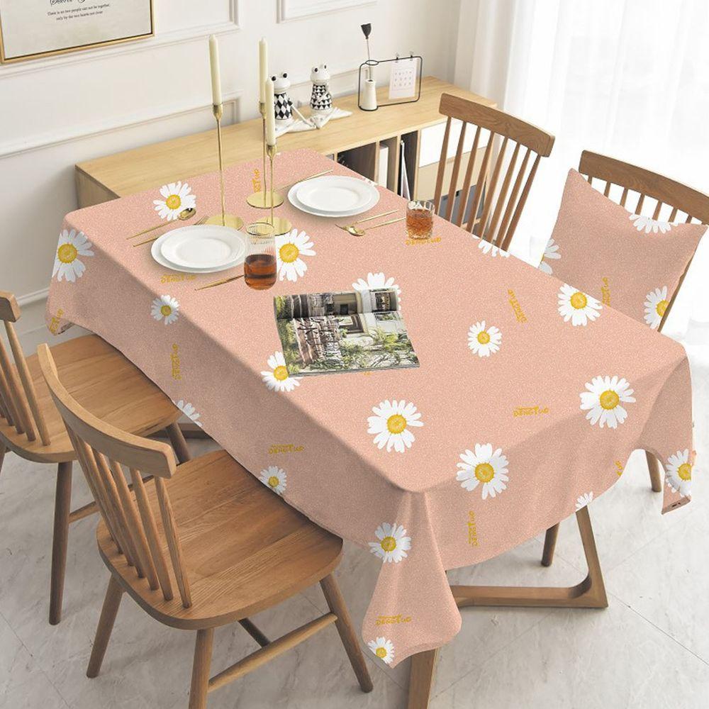 防水防油免洗桌布-小雛菊-粉色