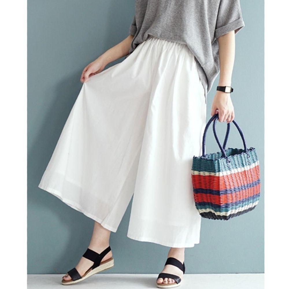 日本 zootie - 100%印度棉舒適寬褲-天使白 (Free)