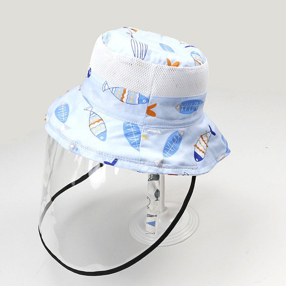 透氣網眼防飛沫雙面遮陽帽-小魚狂想曲