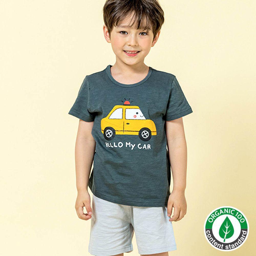 韓國 Maykids - 有機棉細柔短袖袖家居服-黃色計程車