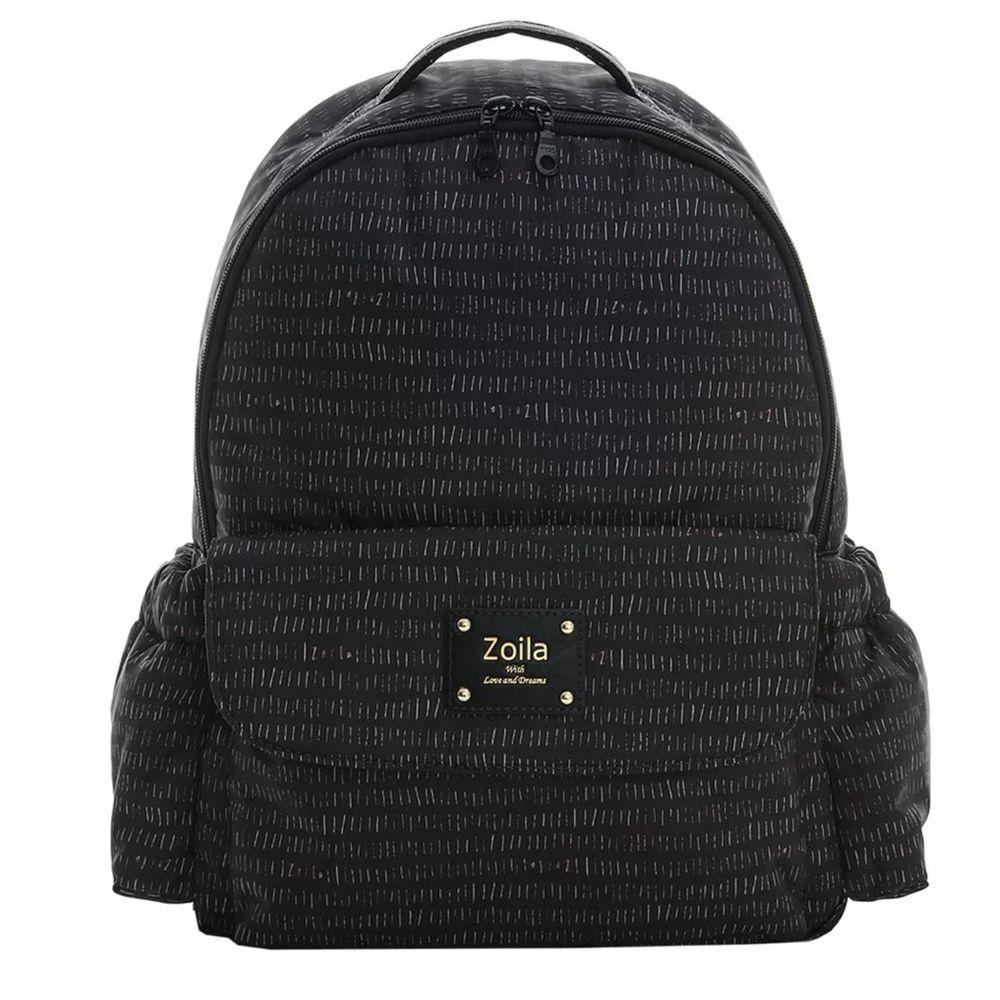 Zoila - EZ bag 後背包-線條黑-輕量美型媽媽包