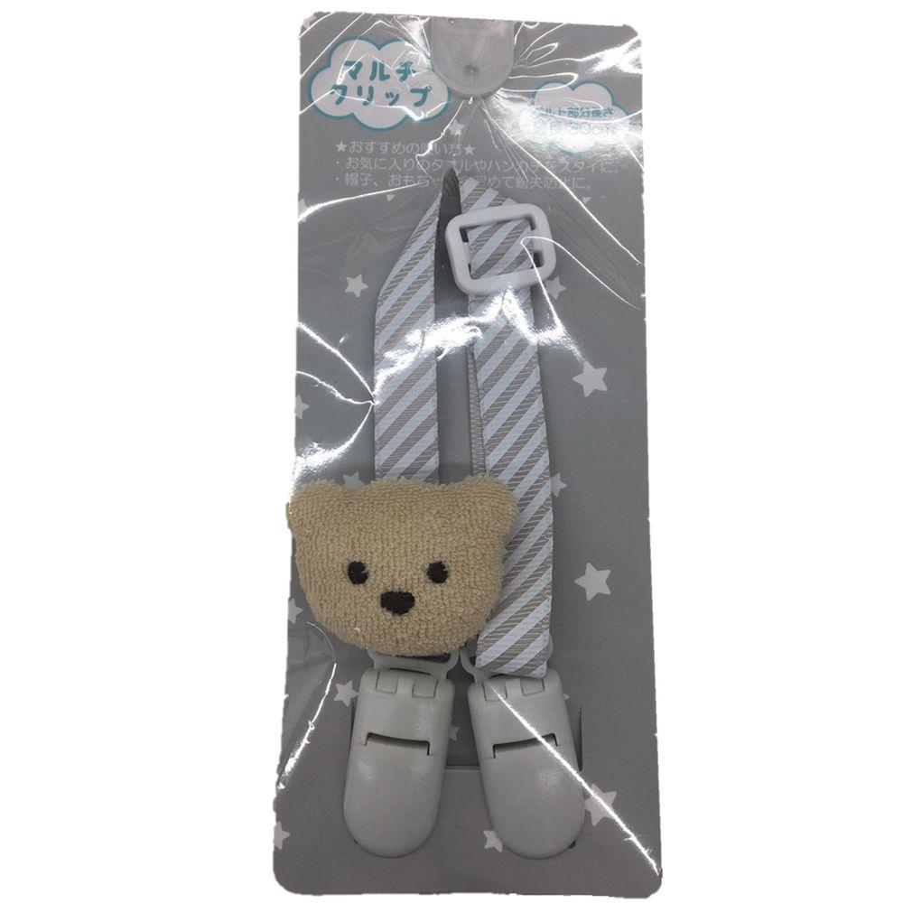 akachan honpo - 多功能夾 附裝飾物-淺卡其色