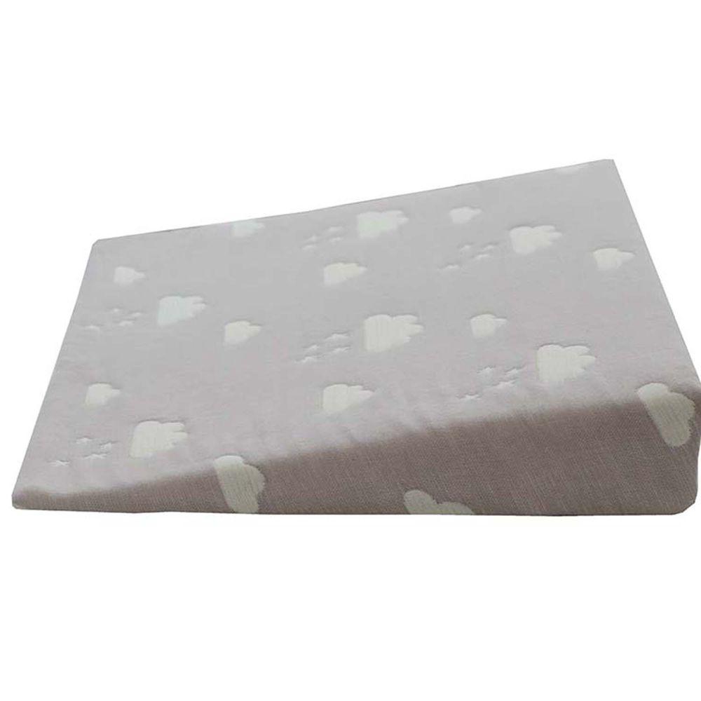 akachan honpo - 6層棉紗枕-雲朵-灰色