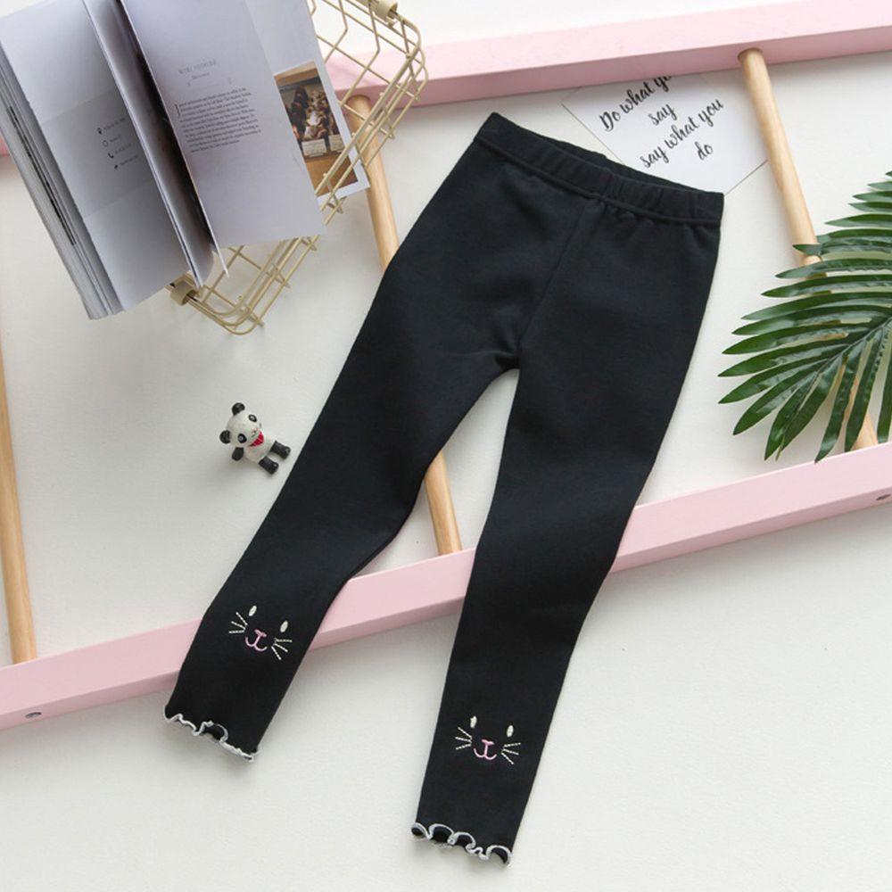 FANMOU - 內搭褲-貓咪-黑色