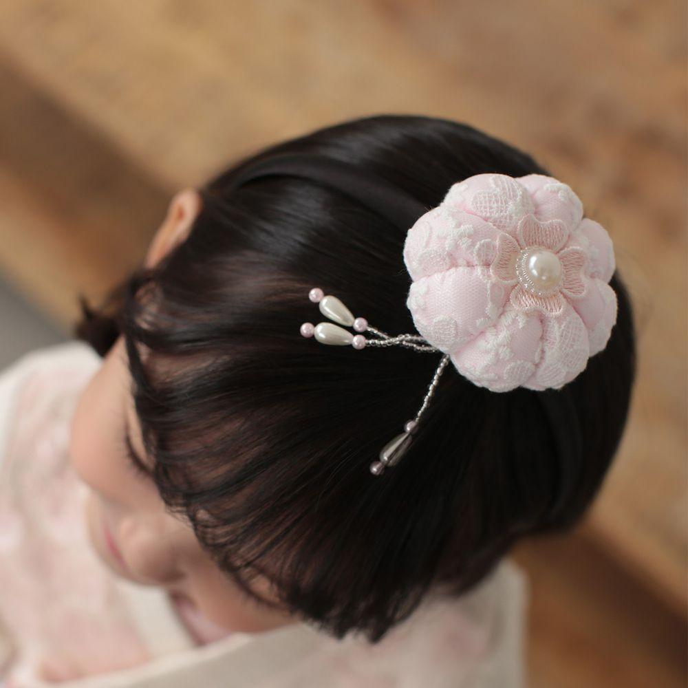 韓國 Dalla - 韓服花朵髮箍-粉紅