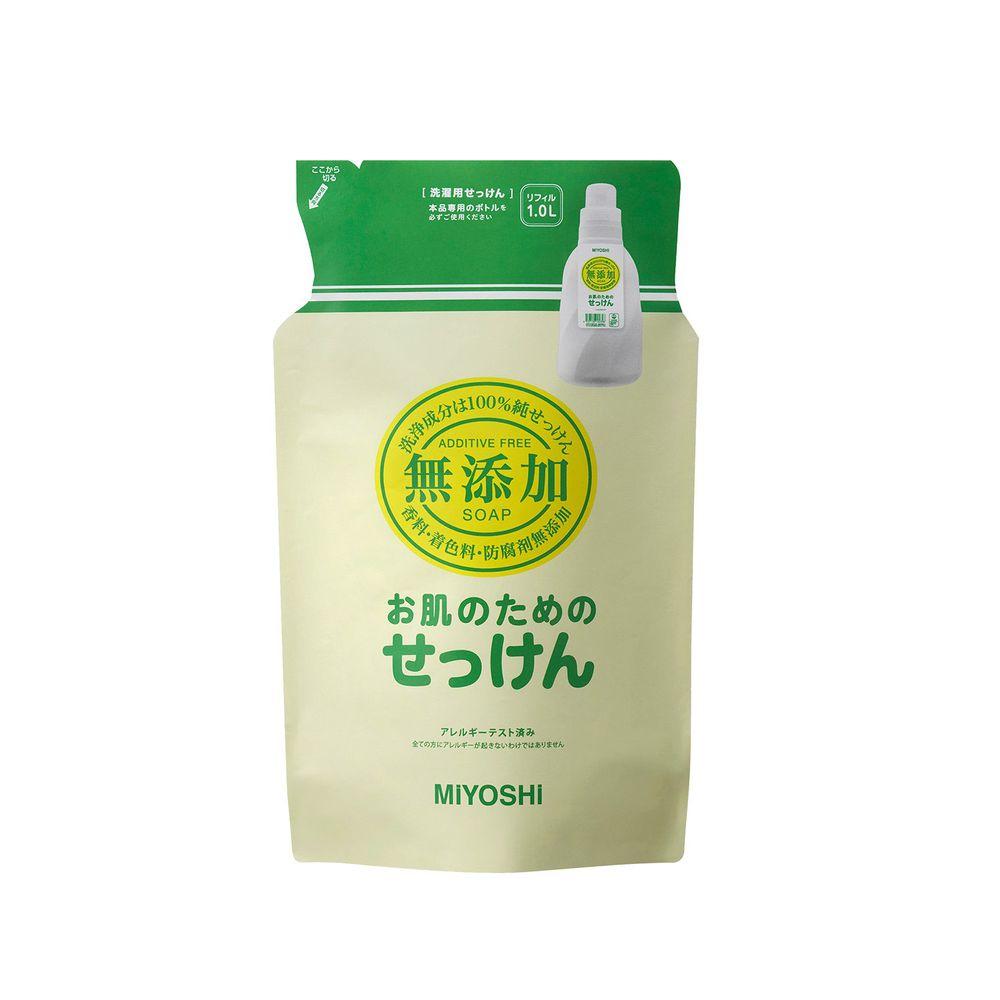日本 MIYOSHI 無添加 - 洗衣精-補充包-1L