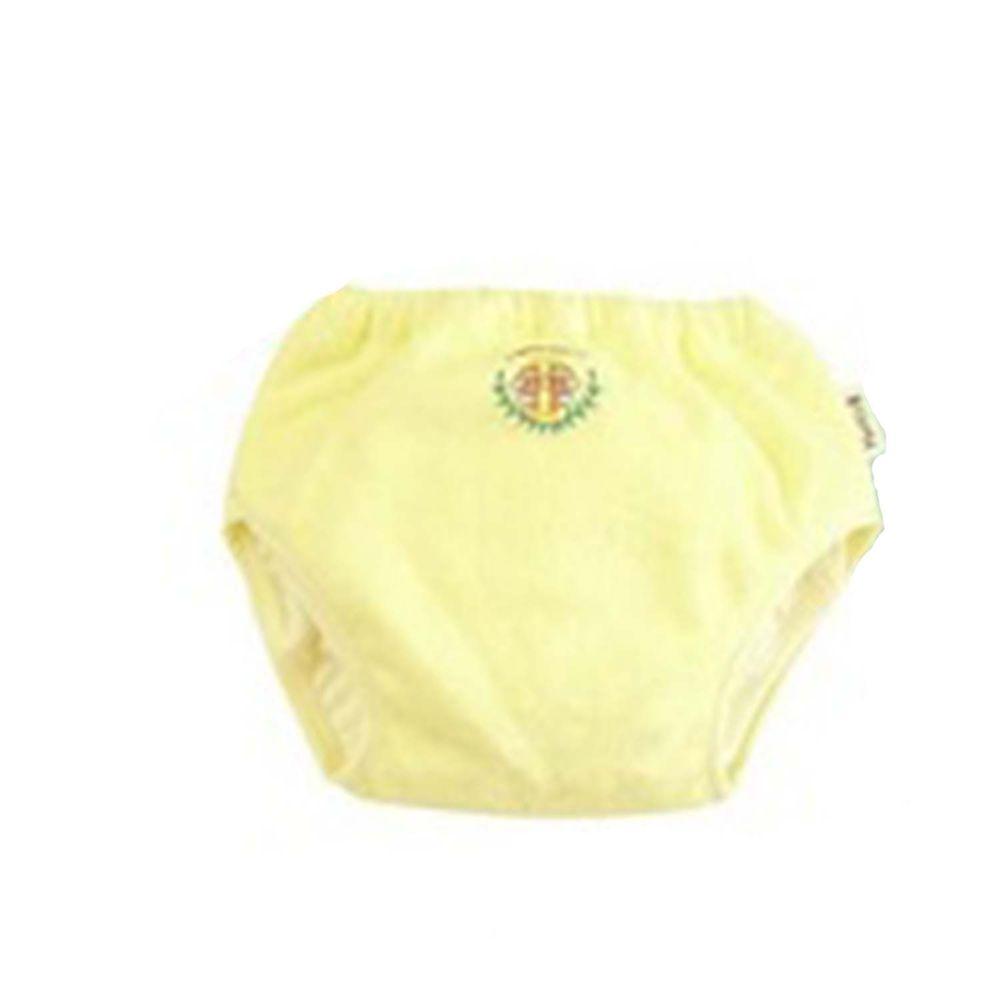 日本 Chuckle Baby - 日本製六層學習褲-天使刺繡-粉黃-分離式