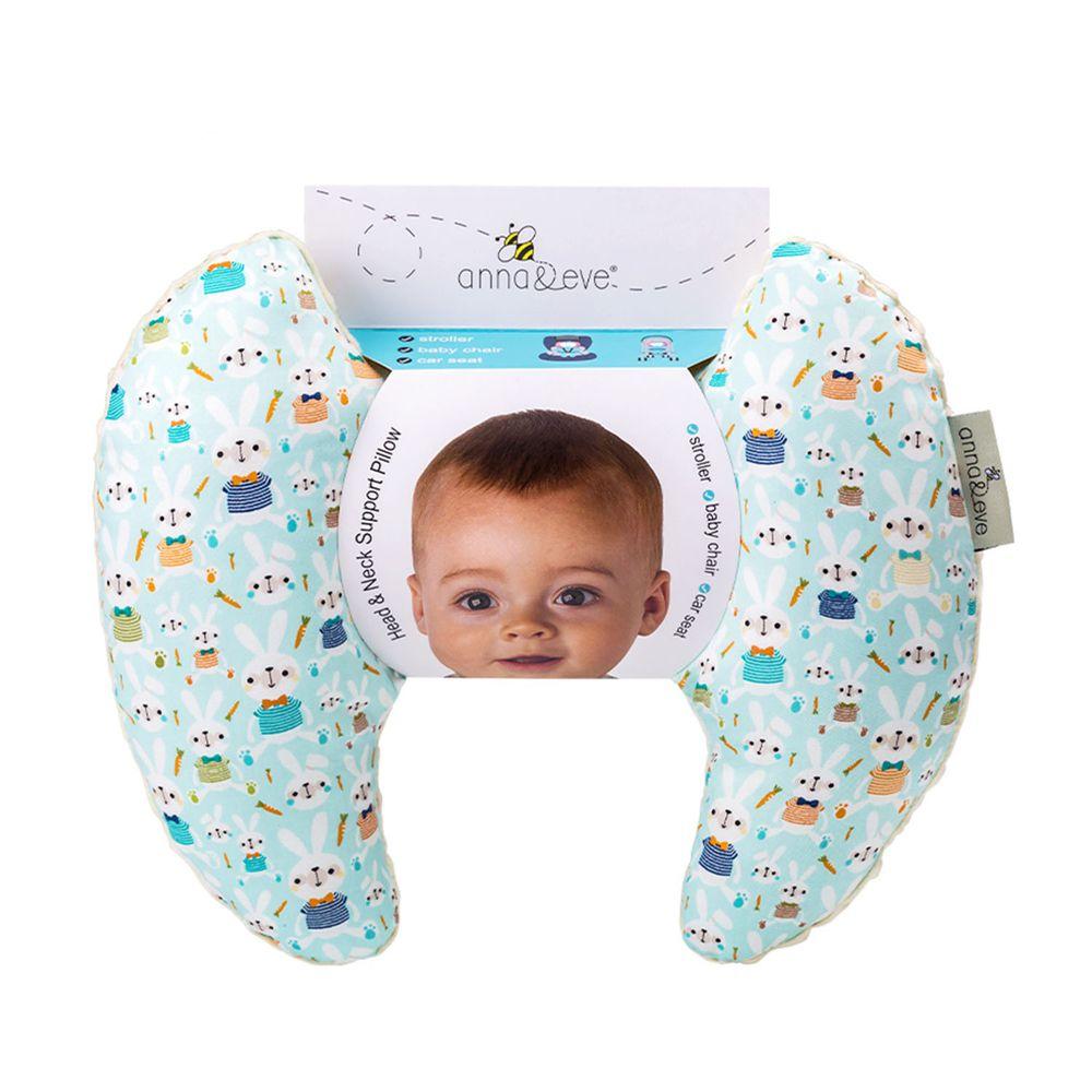 Anna&Eve - 美國嬰幼兒頭頸支撐保護枕-藍色兔子農場