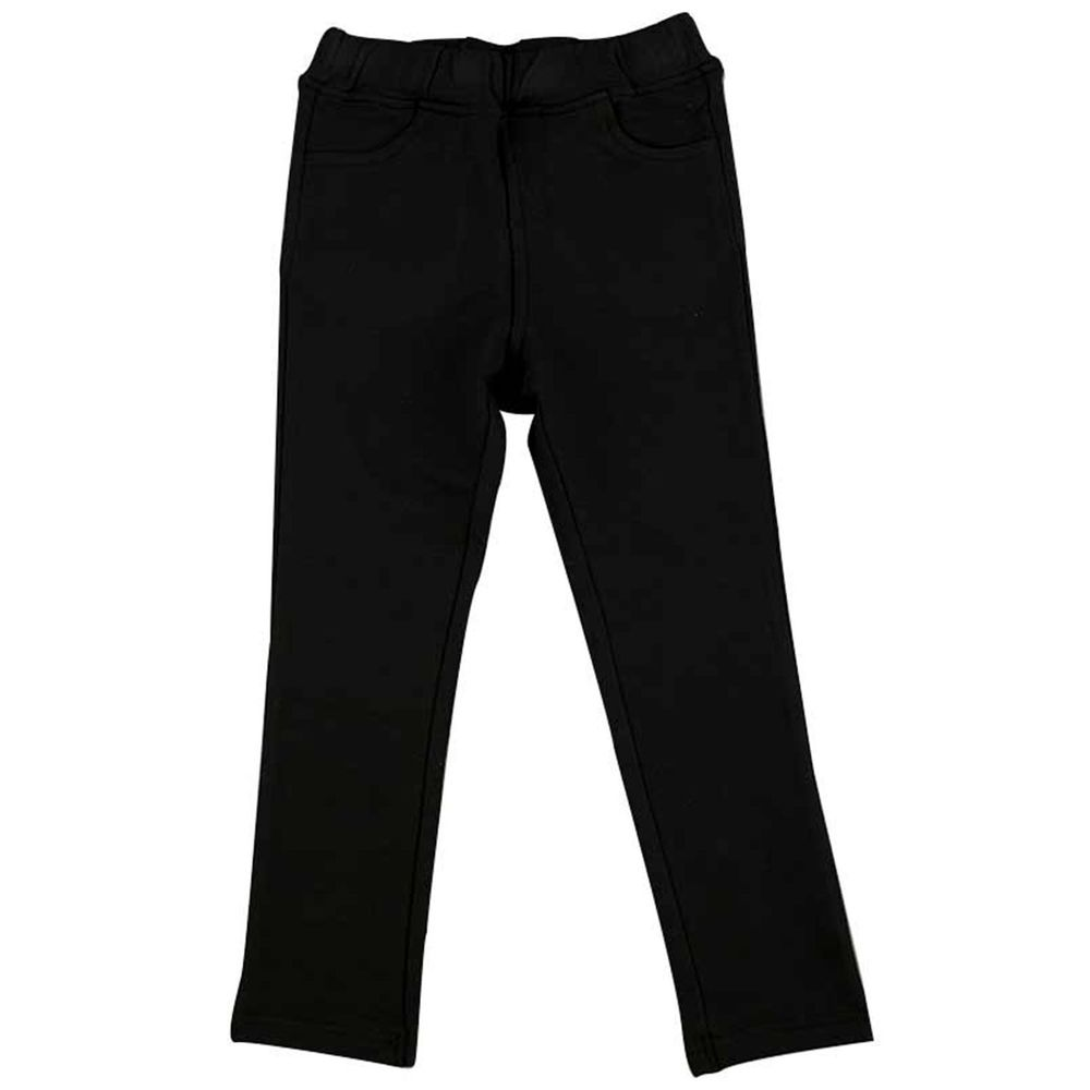 akachan honpo - 10分彈性緊身褲 素面-黑色