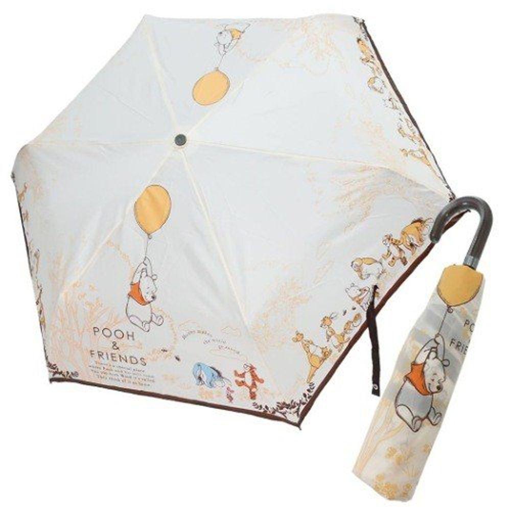 日本代購 - 卡通折疊雨傘-維尼氣球 (53cm(125cm以上))