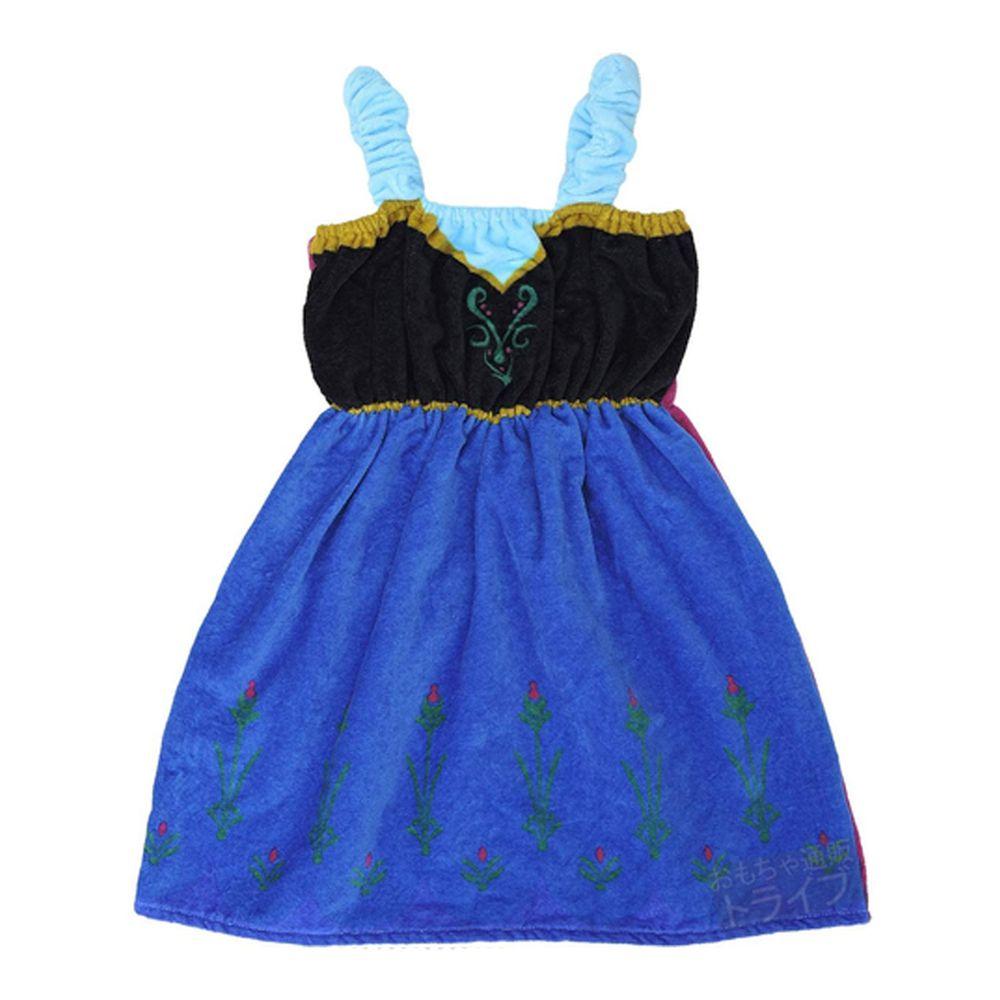 日本服飾代購 - 迪士尼公主造型浴巾/浴袍-安娜-藍 (身高105~115cm)