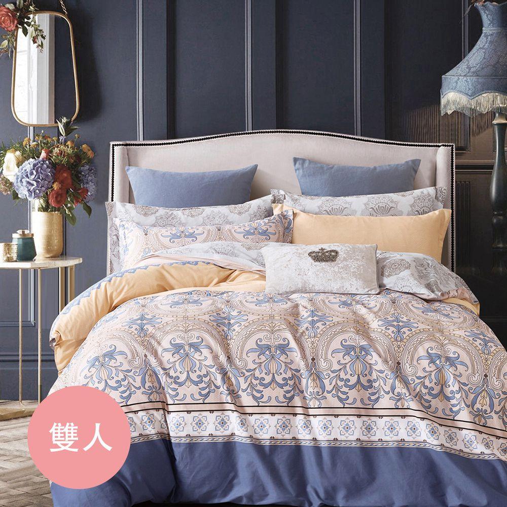 PureOne - 極致純棉寢具組-萊茵河畔-雙人鋪棉兩用被套床包四件組