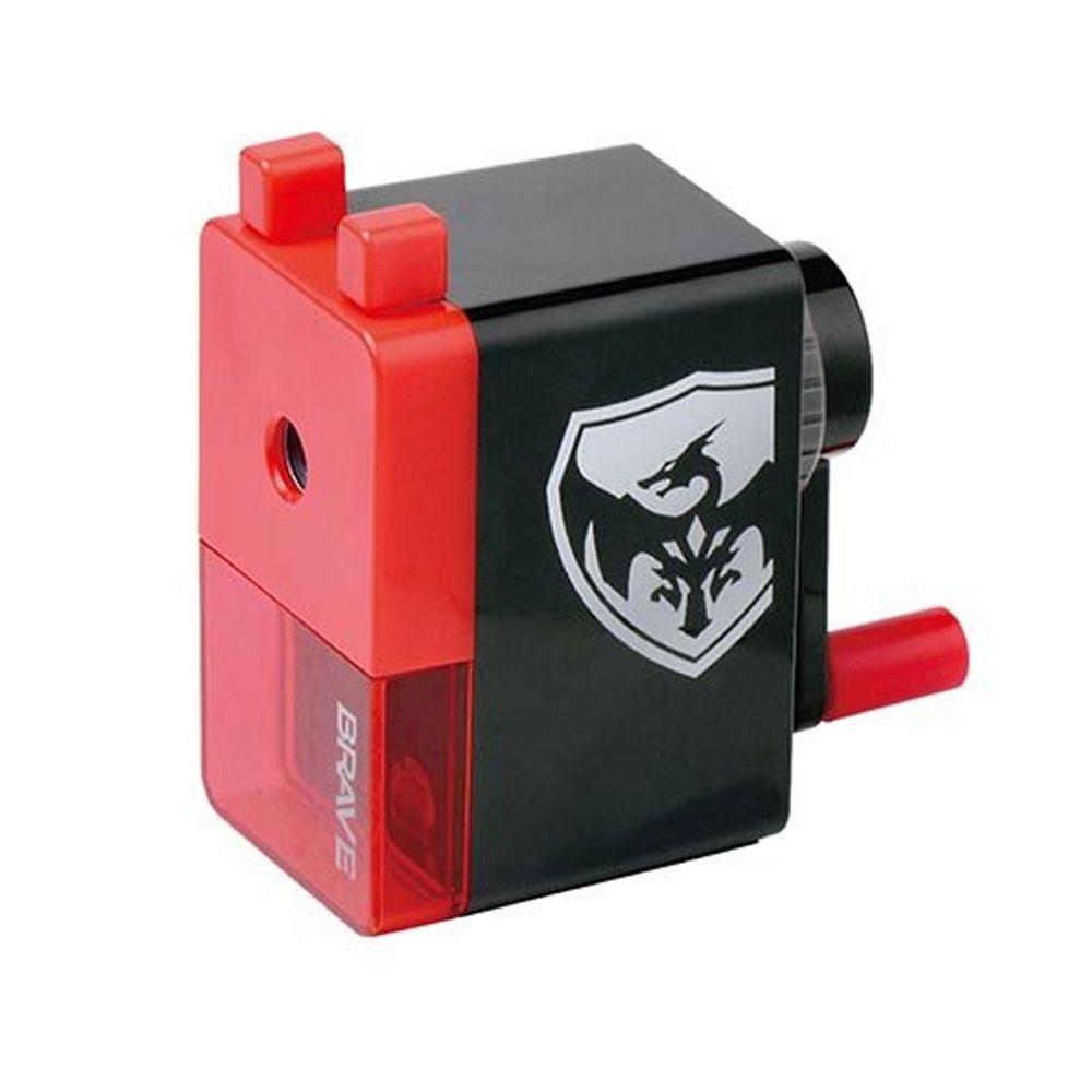 日本文具 SONIC - 手動式削鉛筆機-紅黑