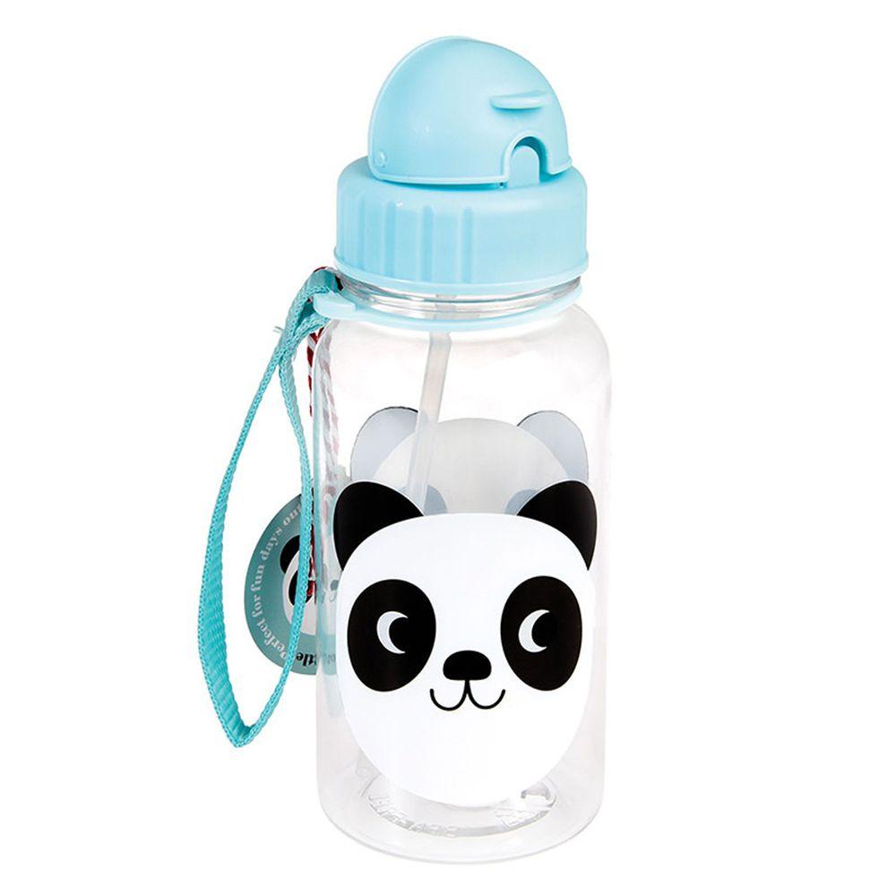 英國 Rex London - 兒童吸管水瓶-可愛熊貓(500ML)