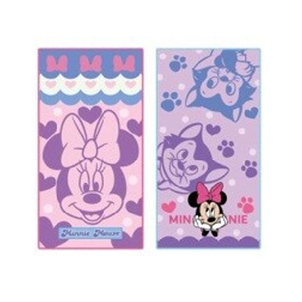 日本代購 - 長方形小手帕/毛巾兩入組-米妮與費加羅 (10×20cm)