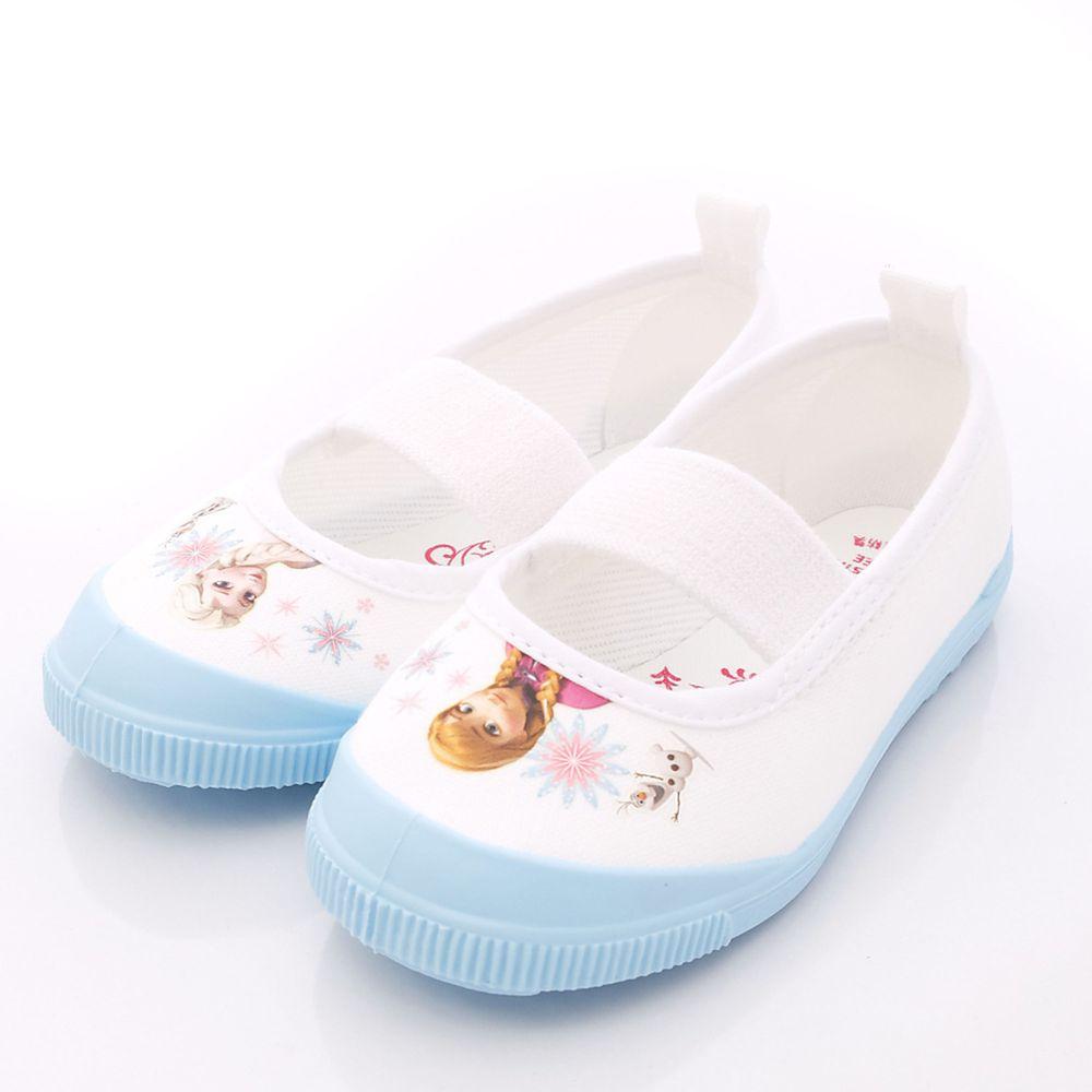 Moonstar日本月星 - 日本月星機能童鞋-日本製冰雪奇緣室內鞋防潑水版(中小童段)-淺藍