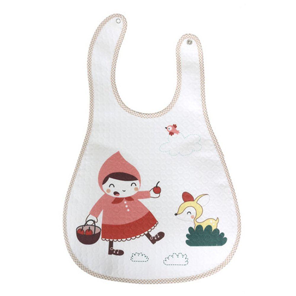 韓國 Lieto baby - 無螢光棉防水圍兜-森林小紅帽