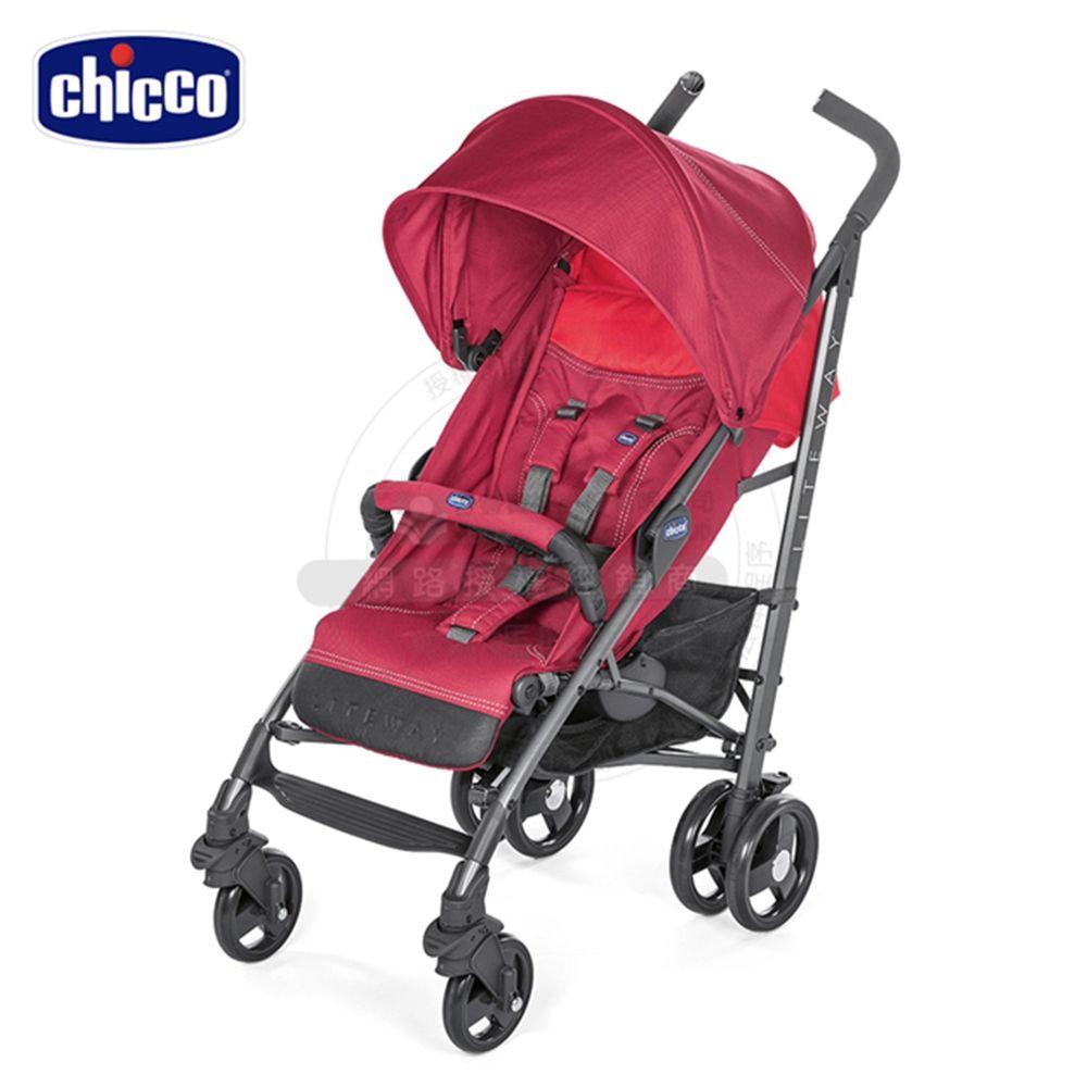義大利 chicco - Lite Way3樂活輕便推車-野莓紅