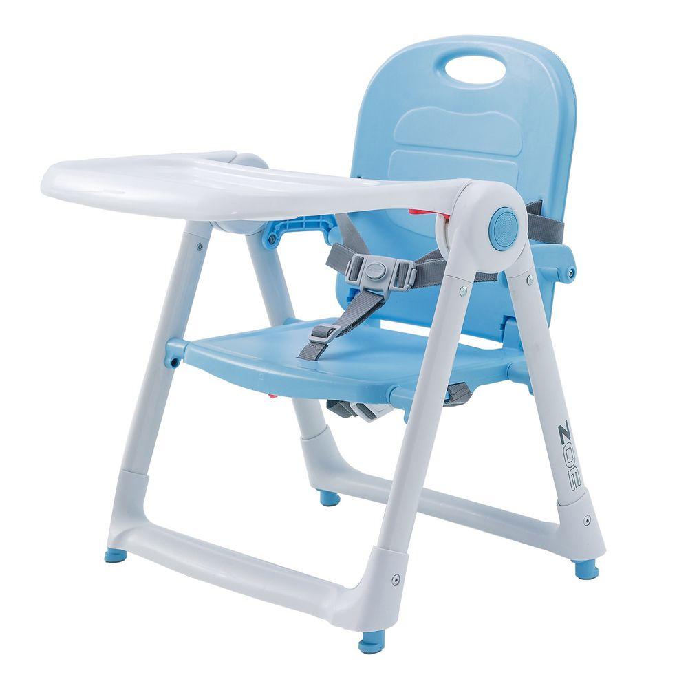美國 ZOE - 可攜式折疊兒童餐椅-冰雪藍