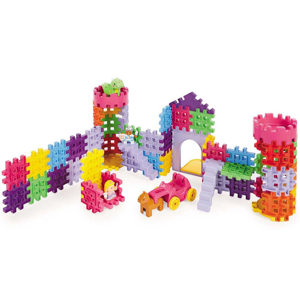 美國 Little Tikes - 鬆餅積木-城堡-89PCS