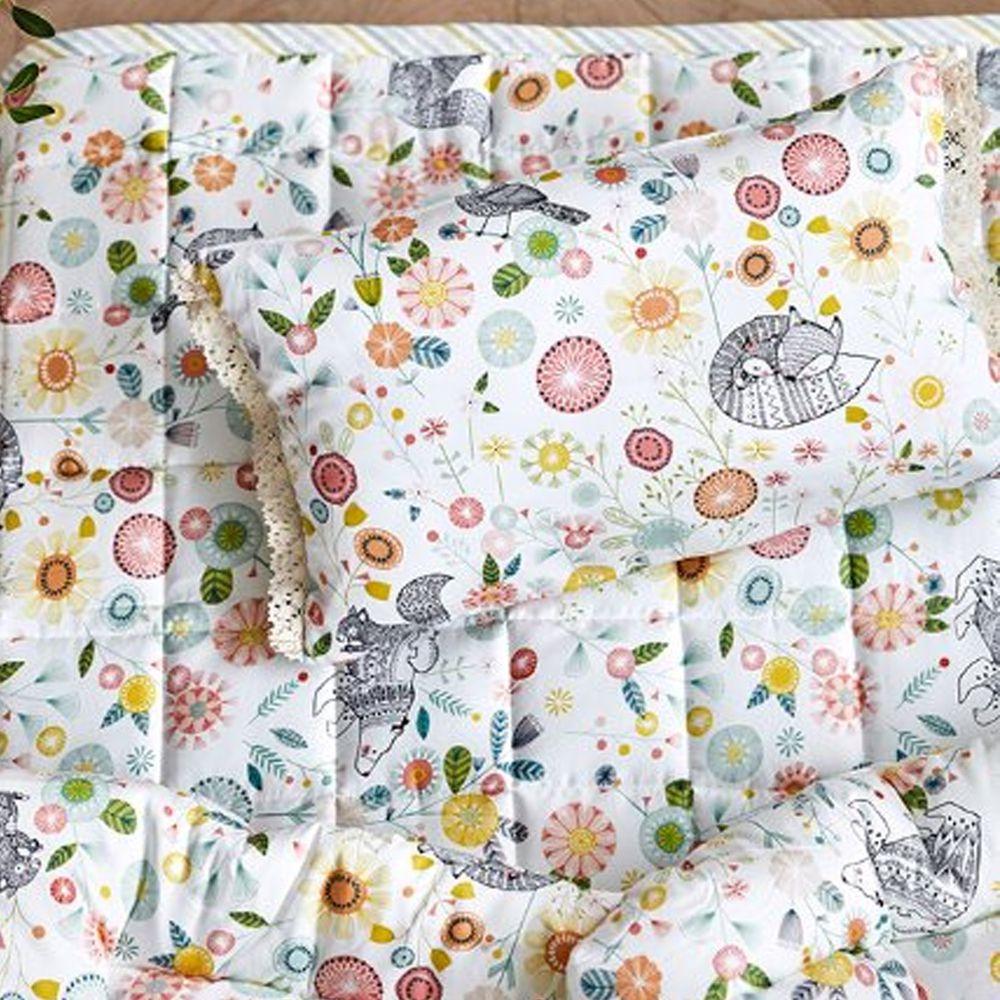 韓國 Formongde - (4件套)極輕天絲可機洗棉被/睡墊/枕芯/枕套-春暖花開