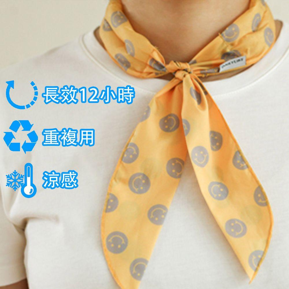 韓國 Daily Like - 沁涼長效涼感領巾-橘黃 (91x5 cm)