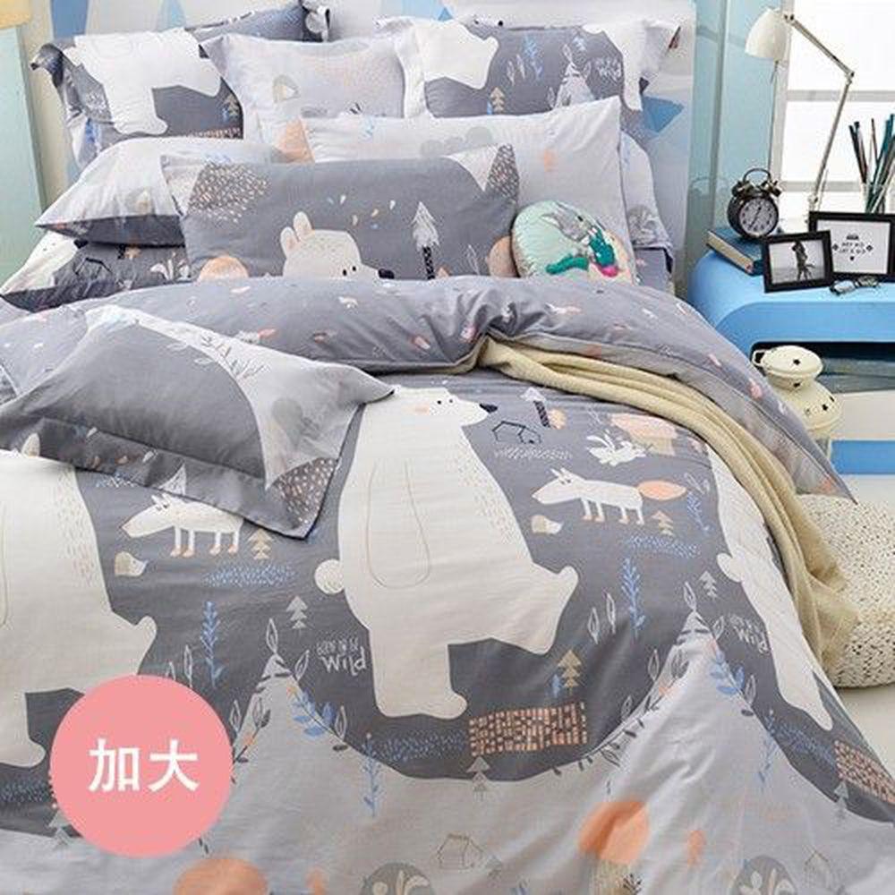 格蕾寢飾 Great Living - 義大利Fancy Belle 防蹣抗菌吸濕排汗兩用被床包組-格林童話 (加大四件式)