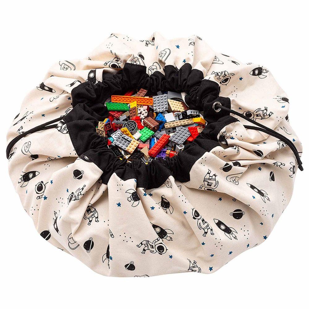 比利時 Play & Go - 玩具整理袋-夜光外太空-展開直徑 140cm/產品包裝 24.5×21.5×5.5cm