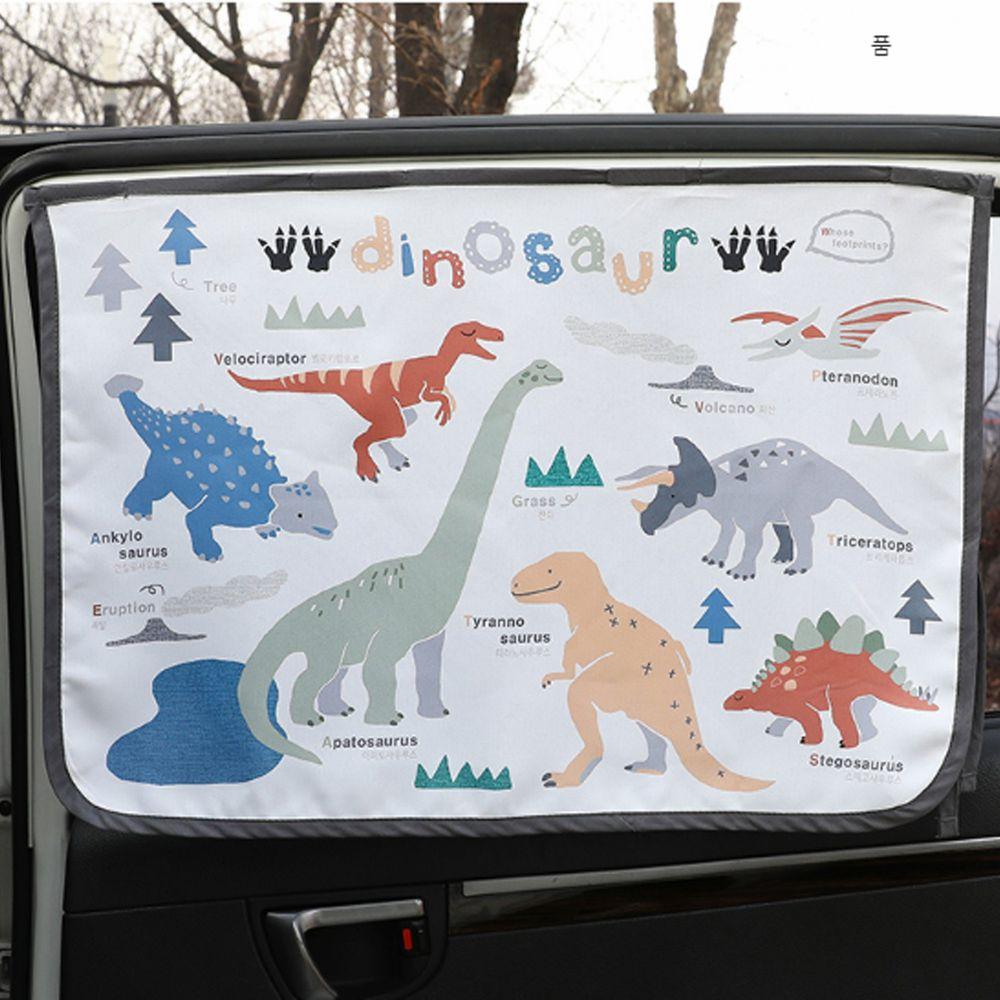 韓國 Bebe Deco - 三層遮光磁鐵遮陽窗簾-侏羅紀公園 (65*45cm)