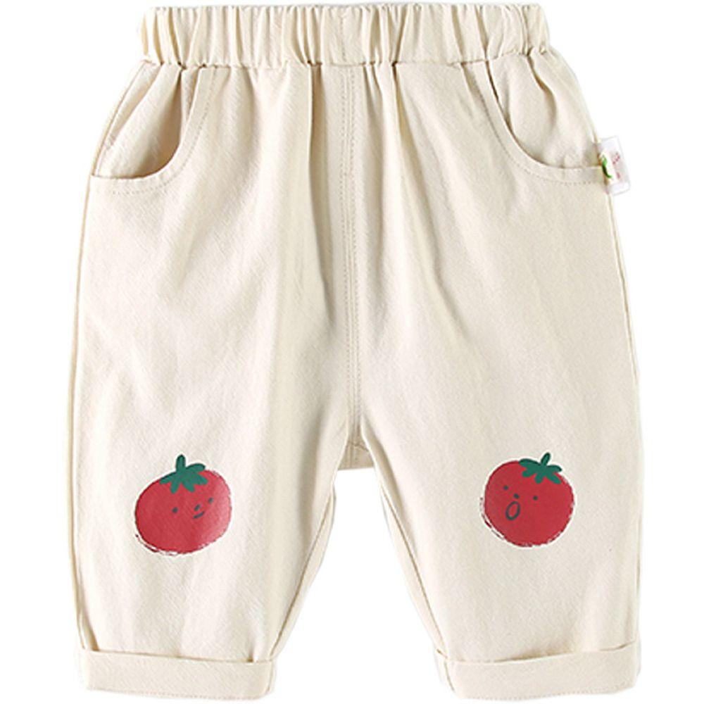 水果派對九分褲-番茄