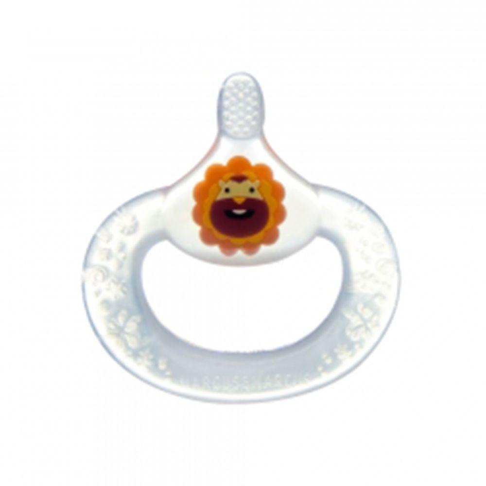 MARCUS&MARCUS - 動物樂園手握固齒乳牙刷-紅獅子 (6個月以上)