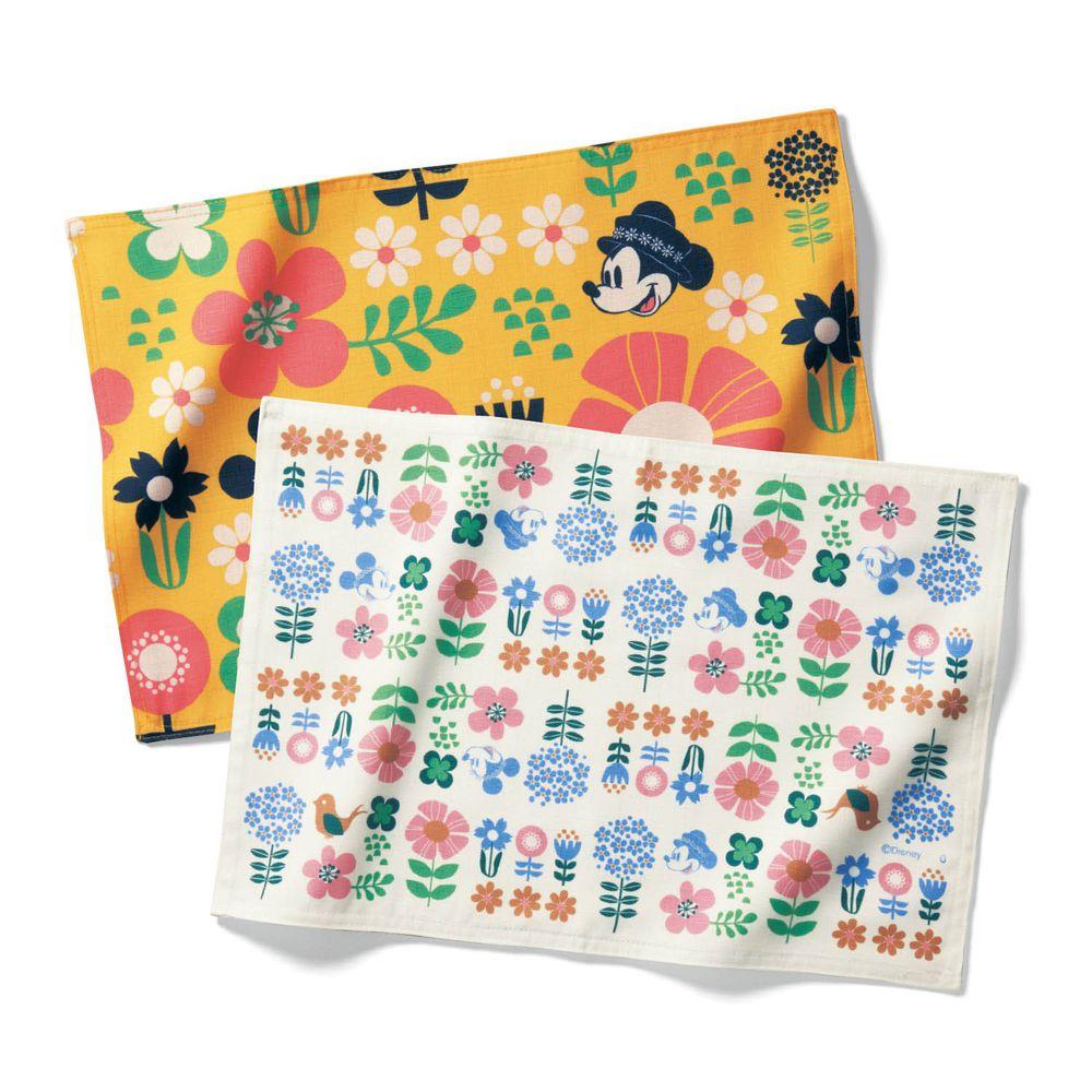 日本千趣會 - 迪士尼 防潑水餐墊兩入組-北歐花園-橘米 (30x45cm)