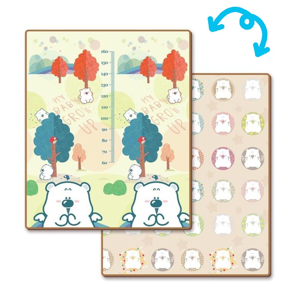 無塵的家 - 捲式地墊-囧熊森林 (180*150*1.5cm)