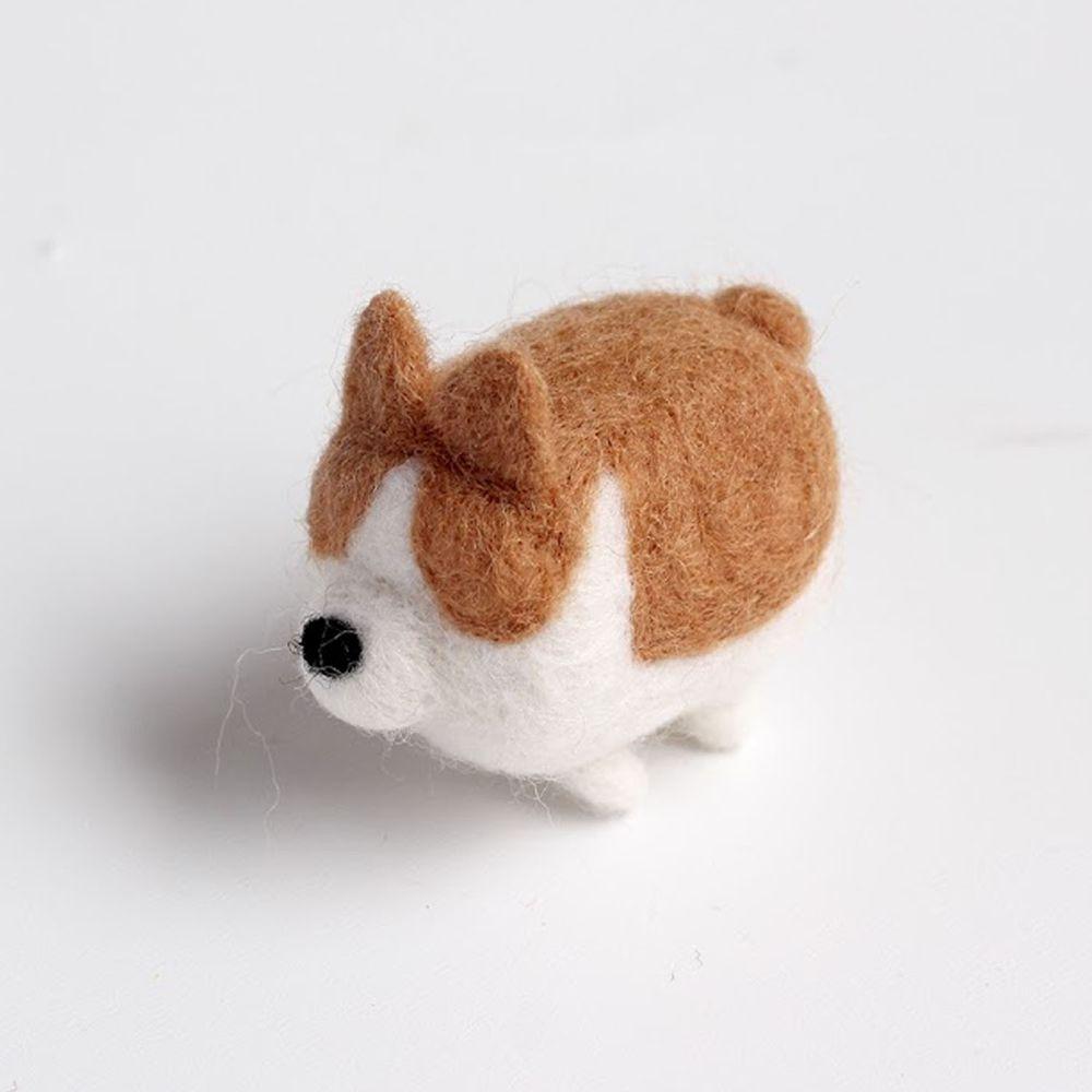 Diy寵物造型羊毛氈戳戳樂材料包-柯基