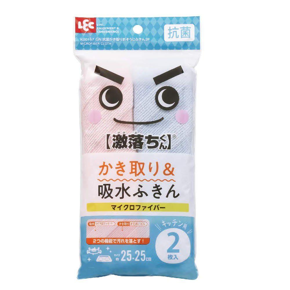 日本 LEC - 快乾廚房清潔抹布-2入組