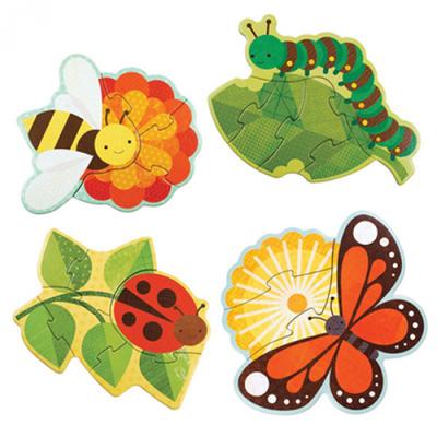 初階拼圖-花園小蟲-3、4、5及6片