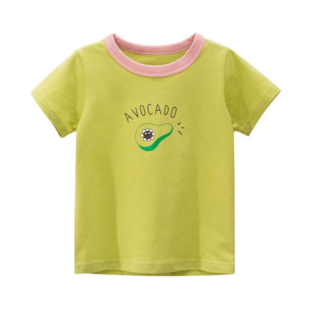 純棉短袖上衣-AVOCADO酪梨-綠色