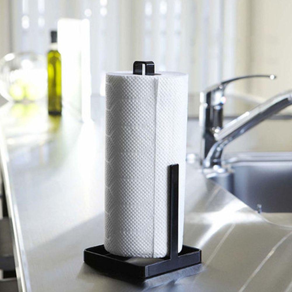 廚房家用捲紙置物架-黑色