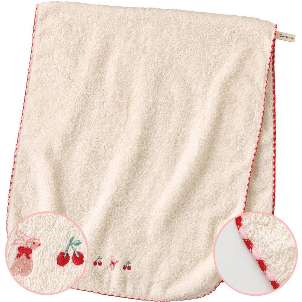 日本 Combi - mini系列-日本有機棉今治澡巾-紅 (F (80x34cm))