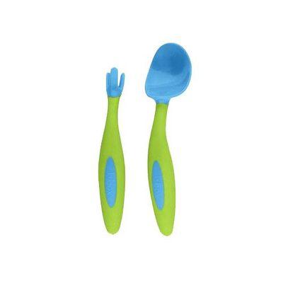 專利湯匙叉子組-海洋藍 (9m+)