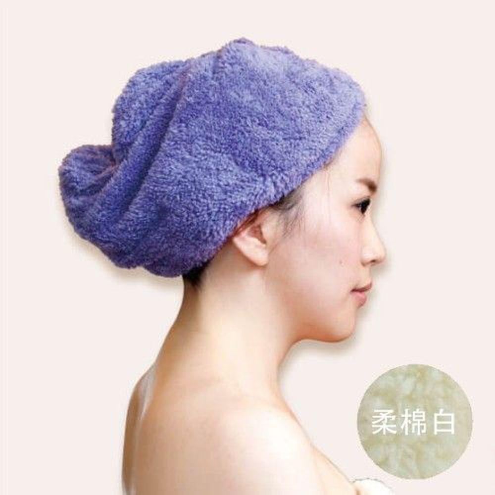 貝柔 Peilou - 超強十倍吸水超細纖維抗菌速乾髮帽-柔棉白 (47x25cm)