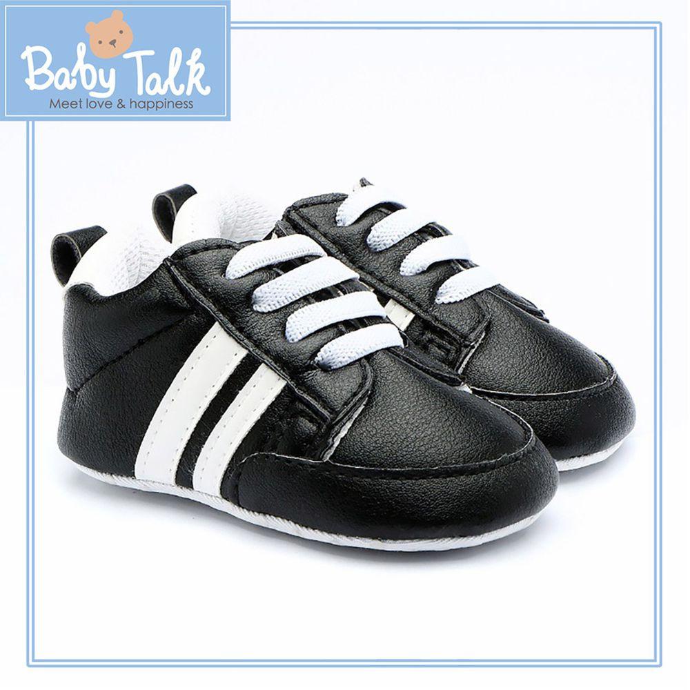BABY TALK - 學步鞋-休閒款/鬆緊帶-黑色