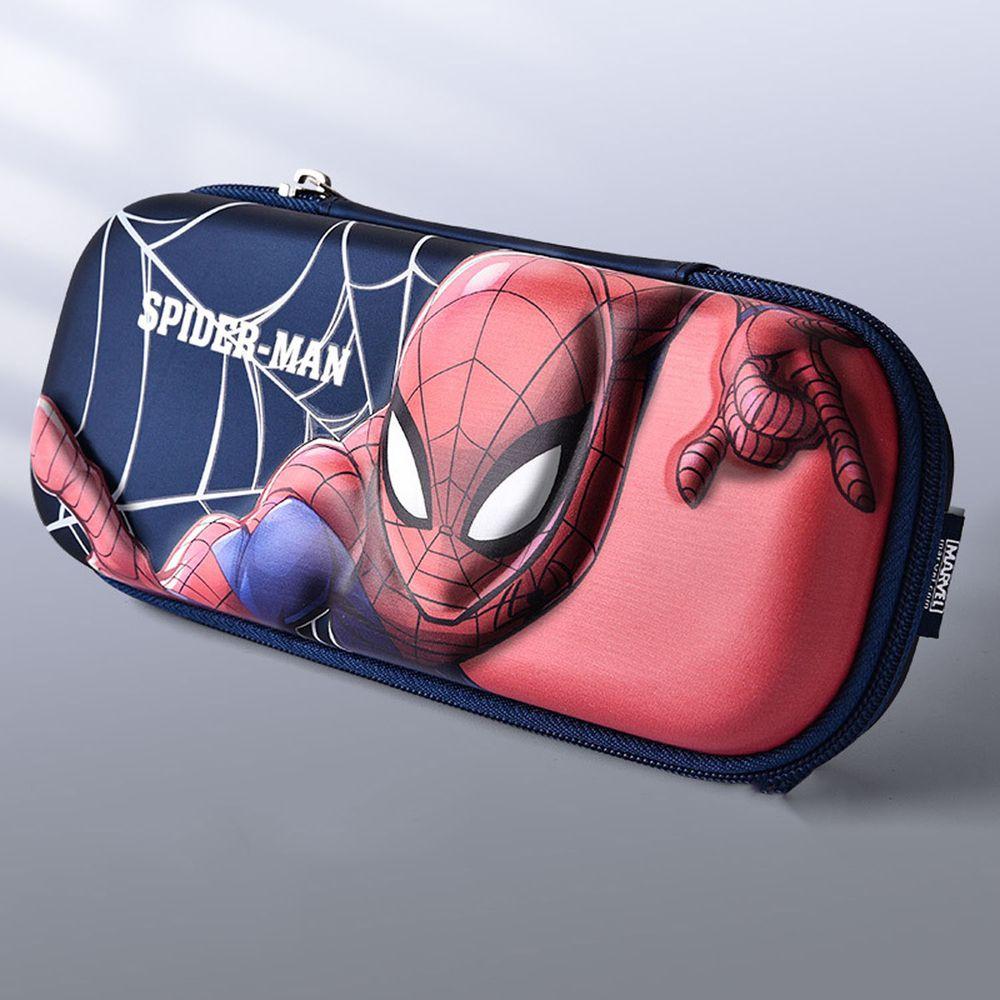 防水3D立體大容量鉛筆盒-卡通人物蜘蛛人 (橫版)