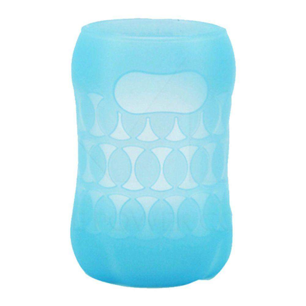 貝親 Pigeon - 寬口徑玻璃奶瓶保護套-粉藍 (160ml)