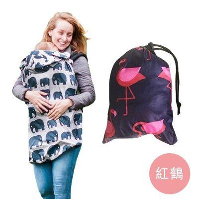 多功能防風防雨背巾罩/遮罩-紅鶴