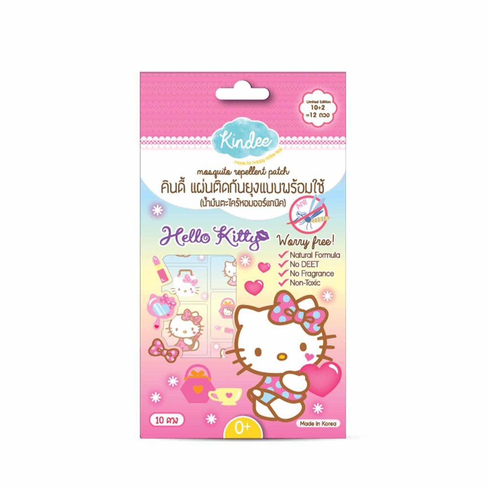 泰國Kindee - 金蝶Hello Kitty防蚊貼紙-1 包10入