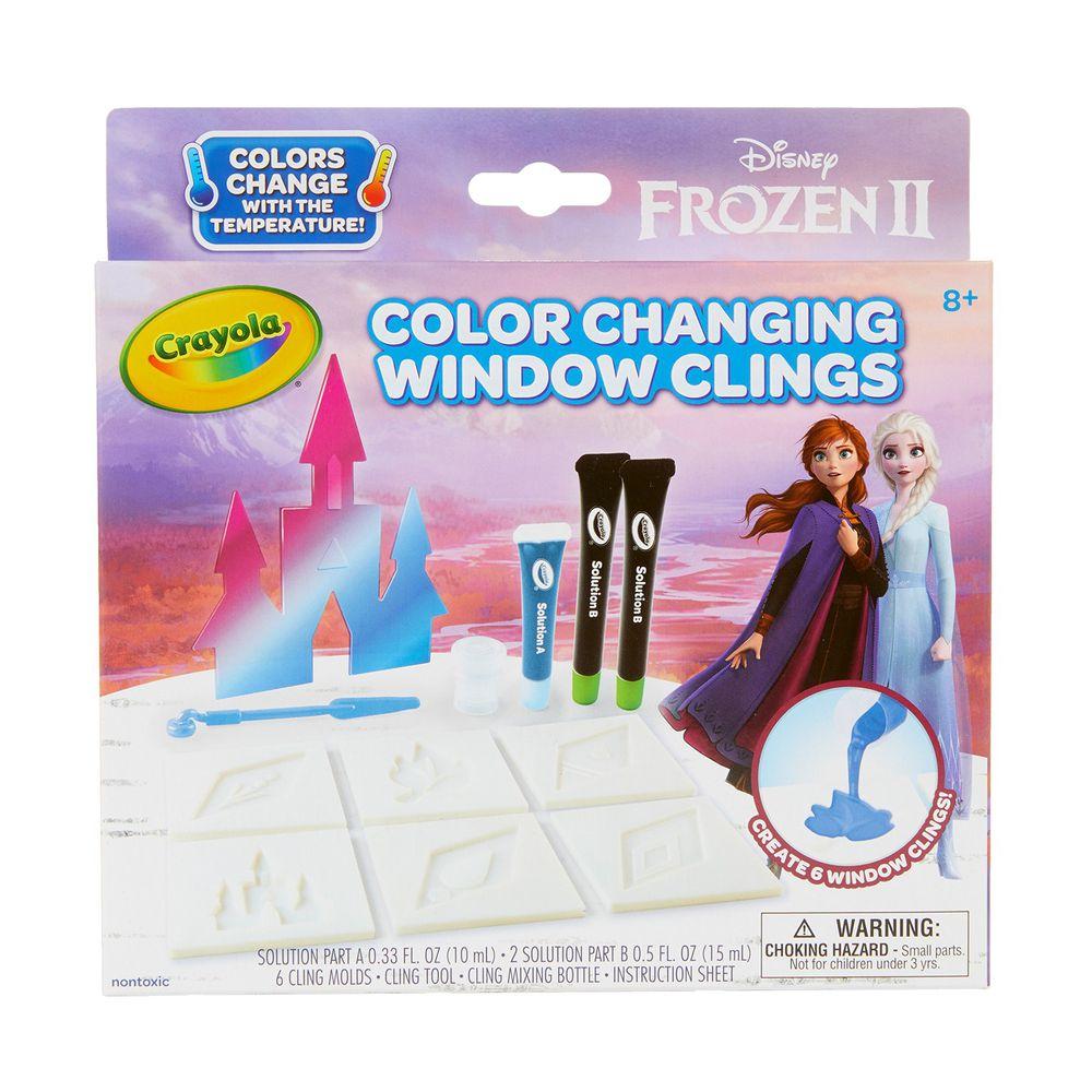 Crayola繪兒樂 - 冰雪奇緣2_感溫變色窗飾DIY